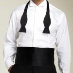Cravattino da smoking. Cravattino nero. bianco è dedicato al frac.