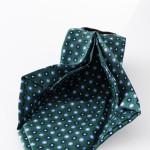Cravatta Aniceta Verde - dettaglio lavorazione sette pieghe