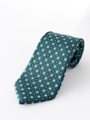 Cravatta sette pieghe -Aniceta verde