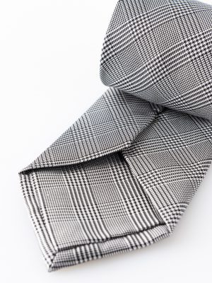 Cravatta John Grigio- dettaglio lavorazione