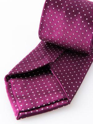 Cravatta Tassilo Prugna- dettaglio lavorazione