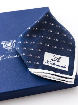 Pochette Mirafiori Lambretta, dettaglio logo e confezione