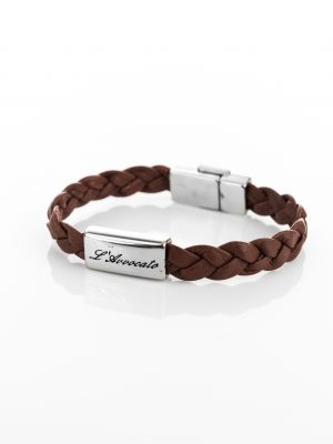 Bracciale in pelle Eddy marrone