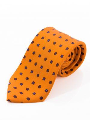 Cravatta Sette Pieghe Marella Arancione Fiamma