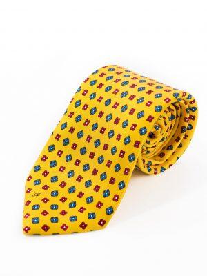 Cravatta Sette Pieghe Marella Giallo Ocra