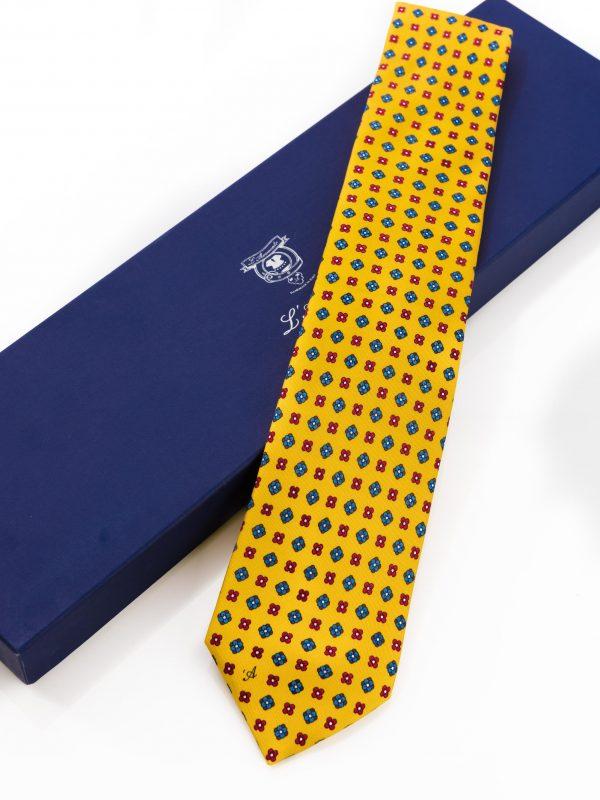 Cravatta Sette Pieghe Marella Giallo Ocra con confezione