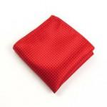 Fazzoletto da taschino in seta rossa, risalta molto sullo smoking nero. molto bello e altrettanto impeccabile il fazzoletto bianco in lino.