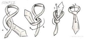 La cravatta. Nodo Four in Hand