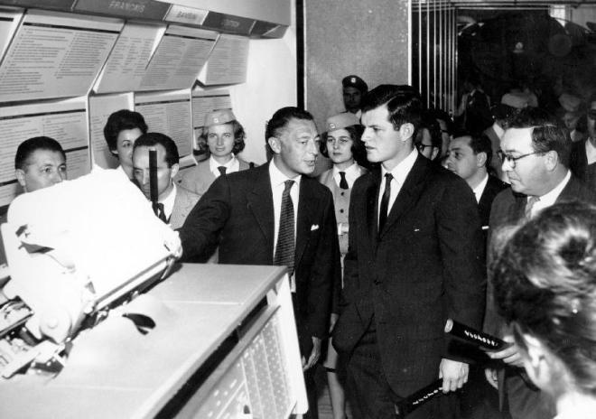 1961. L'Avvocato con Ted Kennedy. Fiat e USA hanno sempre avuto un rapporto speciale.