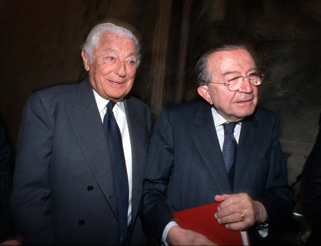 Senatori a vita Gianni Anelli e Giulio Andreotti