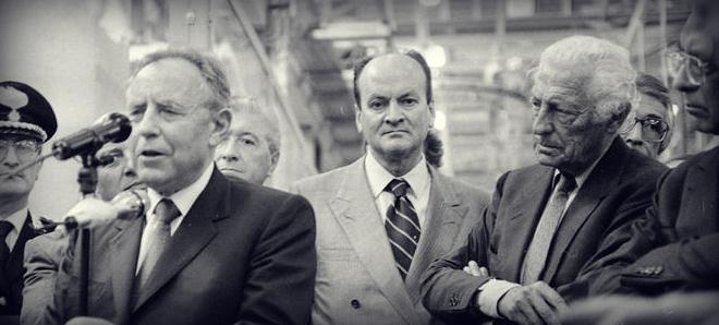 Con il Presidente della Repubblica Carlo Azeglio Ciampi nel 1993, durante una visita presso lo stabilimento Fiat di Melfi.