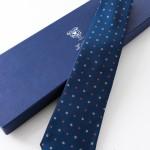 Susanna Blu, cravatta sette pieghe con confezione