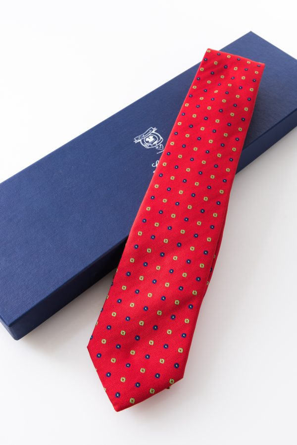 Lined Tie – Lapo Rosso – and its packaging
