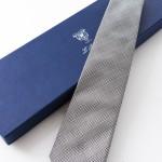 Cravatta incappucciata John Grigio, con confezione