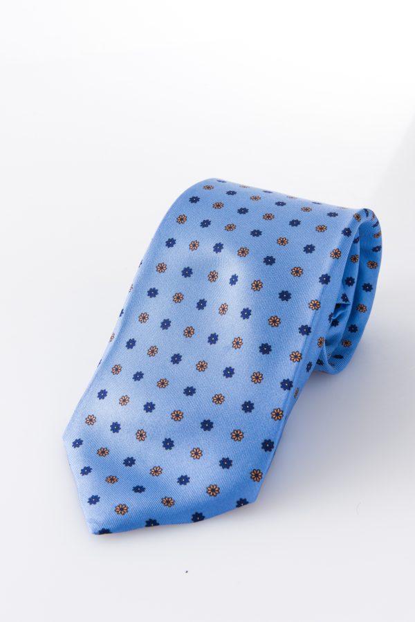 Seven-fold Tie- Margherita Celeste