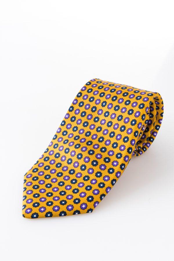 Cravatta sette pieghe - Aniceta Giallo Senape