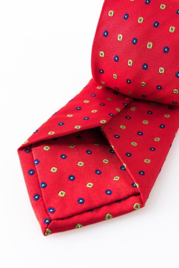 Cravatta Lapo Rosso- dettaglio lavorazione
