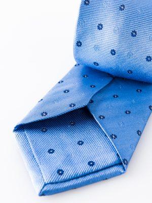 Cravatta Urbano Celeste- dettaglio lavorazione