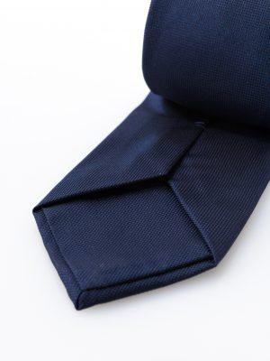 Cravatta Gianni Blu-dettaglio lavorazione