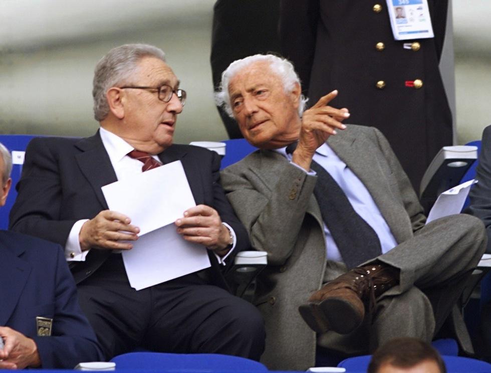 Gianni Agnelli e il suo grande amico Henry Kissinger.