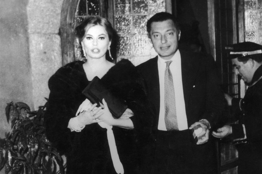 Gianni Agnelli con Anita Ekberg