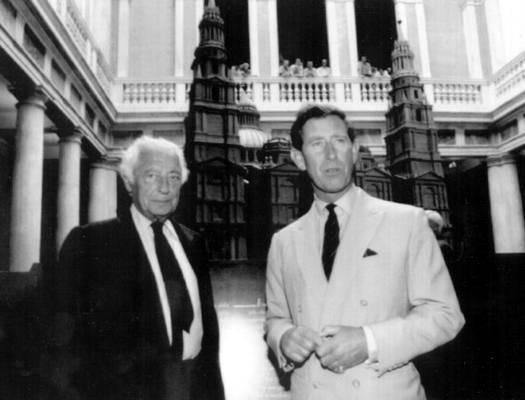 Gianni Agnelli con Carlo d'Inghilterra