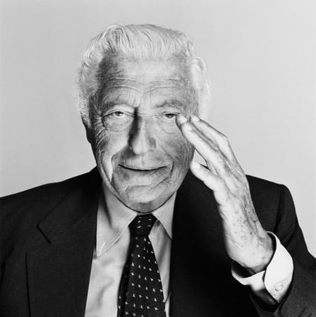 Giovanni Agnelli in un ritratto di Bob Krieger.