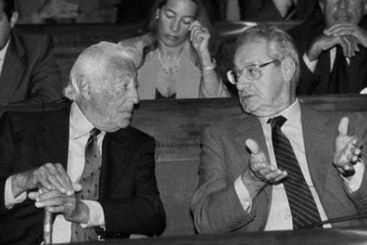 L'Avvocato con Cesare Romiti.
