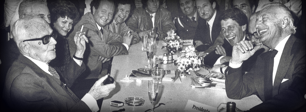 La visita del Presidente della Repubblica Sandro Pertini a La Stampa nel 1984.
