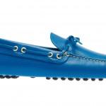 Car Shoe: mocassino driving in vitello daino, colore azzurro