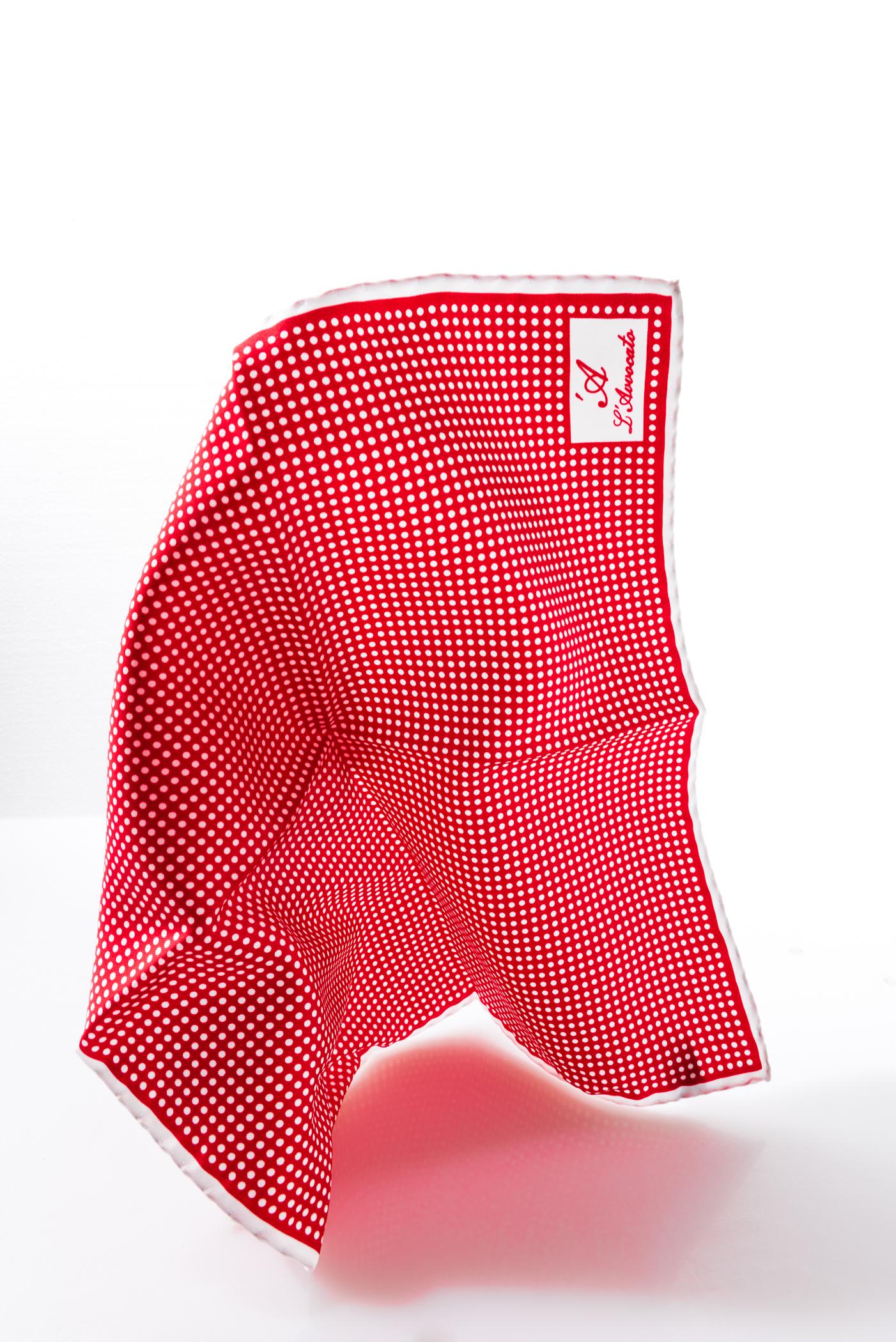 Pocket square MIRAFIORI red