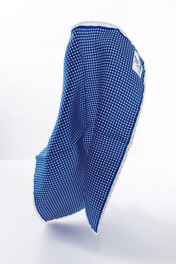 Pocket square MIRAFIORI light blue