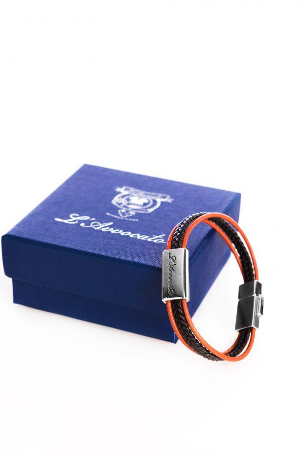 """Vowen black & orange leather bracelet """"Skin"""" – L'Avvocato"""