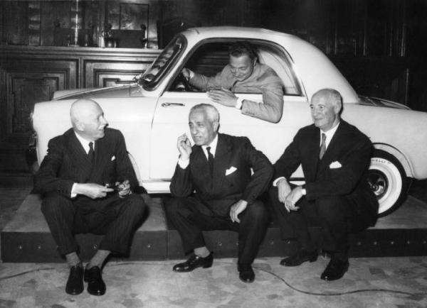 1957. Milan , the Museum of Science and Technology . Presentation of Bianchina .