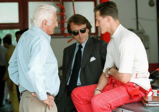 Agnelli , Montezemolo and Schumacher