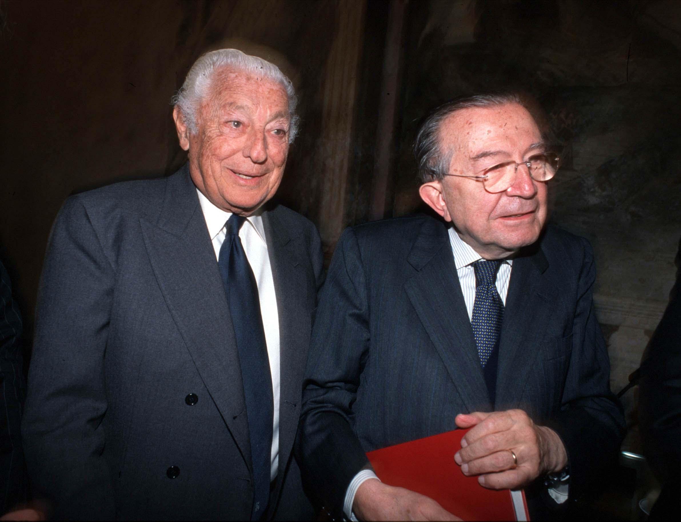 Life senators Gianni Rings and Giulio Andreotti