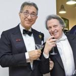 """Sante Speranza e Roberto Pignoni durante l' """"Ave Martini"""" di Bologna."""