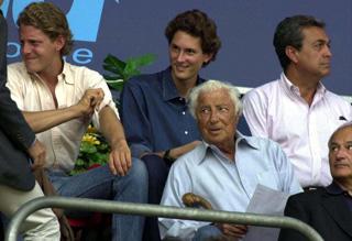 Gianni Agnelli Lapo and John Elkann