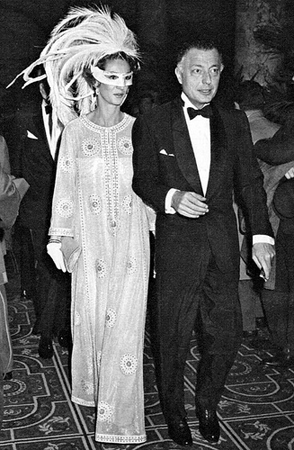 Giovanni Agnelli and Marella Caracciolo in New York at the Black and White Ball of Thruman Capote in 1966 .