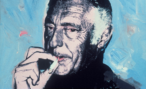 The portrait of Gianni Agnelli signed by Andy Warhol .