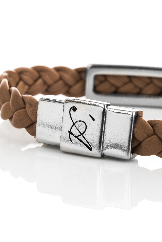 "Vowen brown leather bracelet ""Eddy"" – clasp detail"