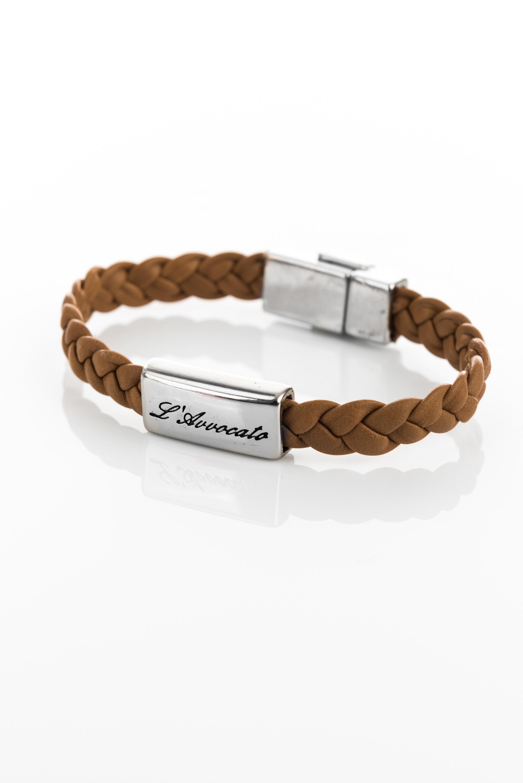 "Vowen brown leather bracelet ""Eddy"" brown- L'Avvocato"