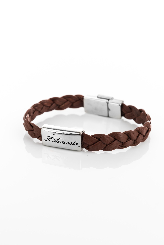 "Vowen dark brown leather bracelet ""Eddy""- L'Avvocato"