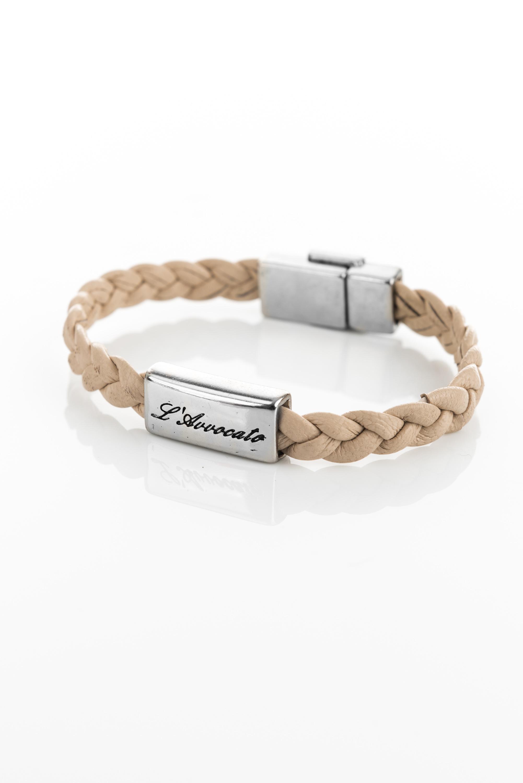 """Vowen brown leather bracelet """"Eddy"""" natural colour- L'Avvocato"""