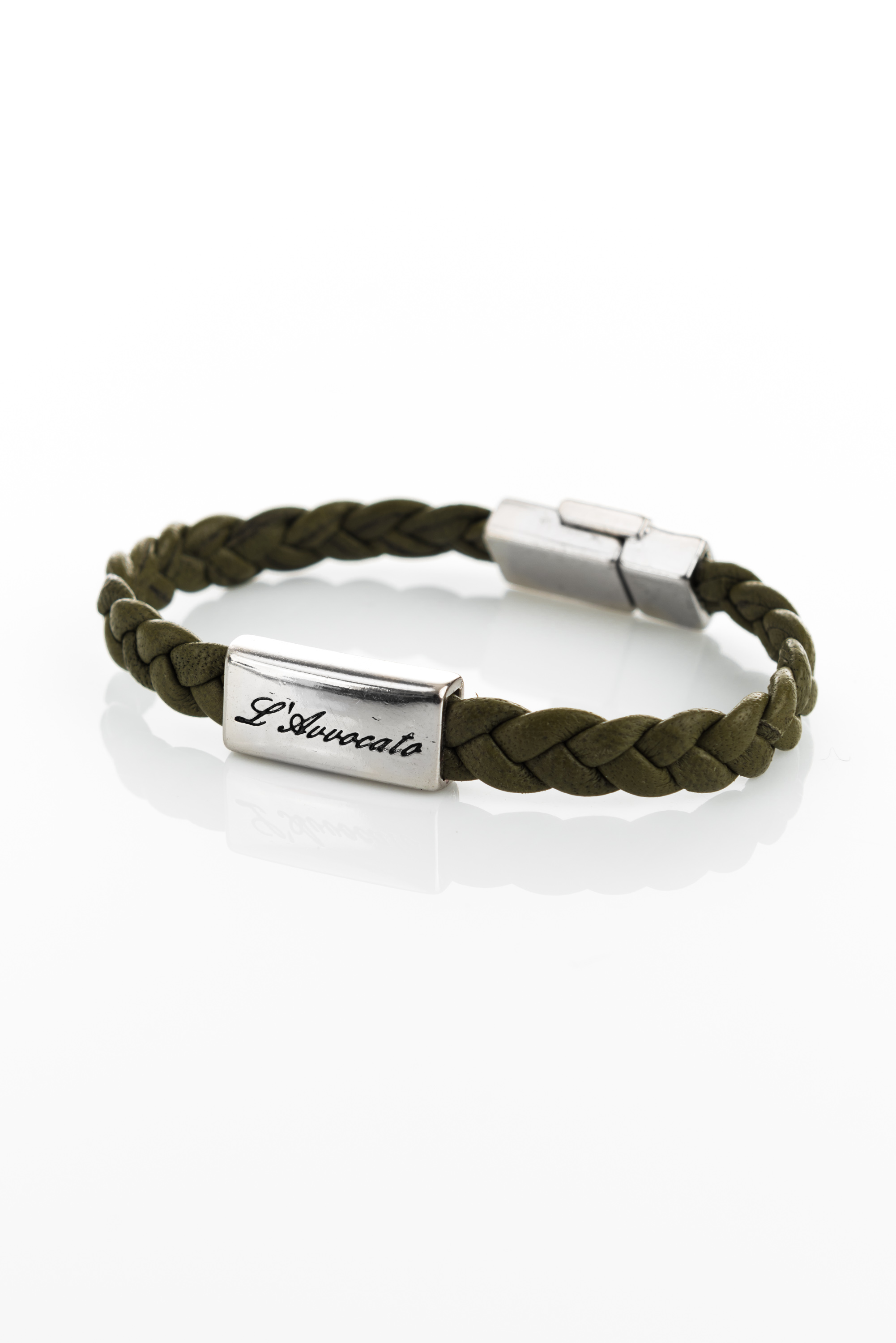 "Vowen leather bracelet ""Eddy"" green- L'Avvocato"