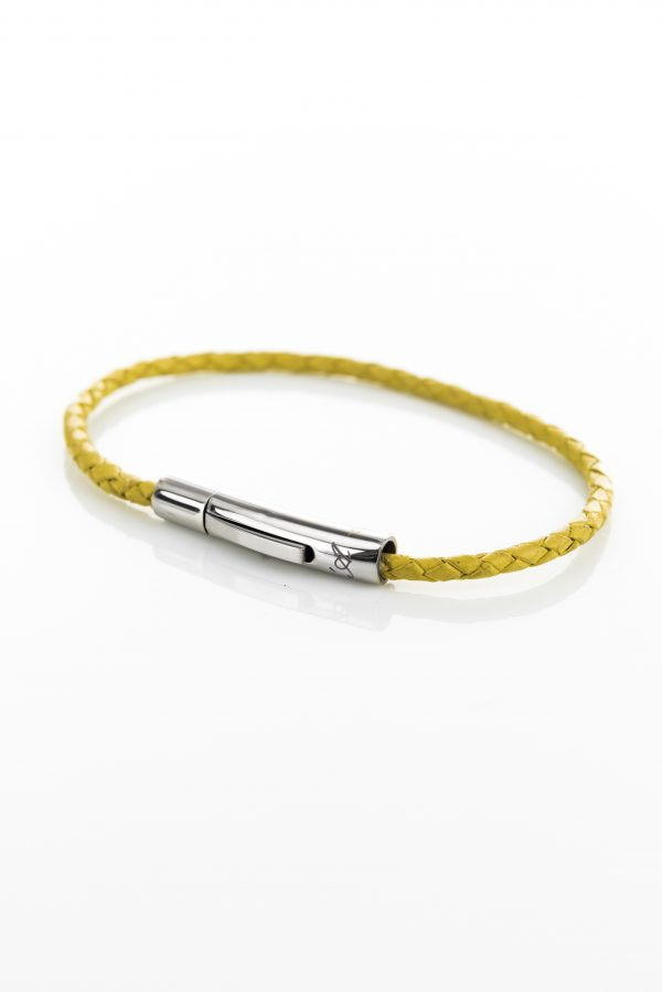 "Vowen yellow leather bracelet ""Skin""- L'Avvocato"