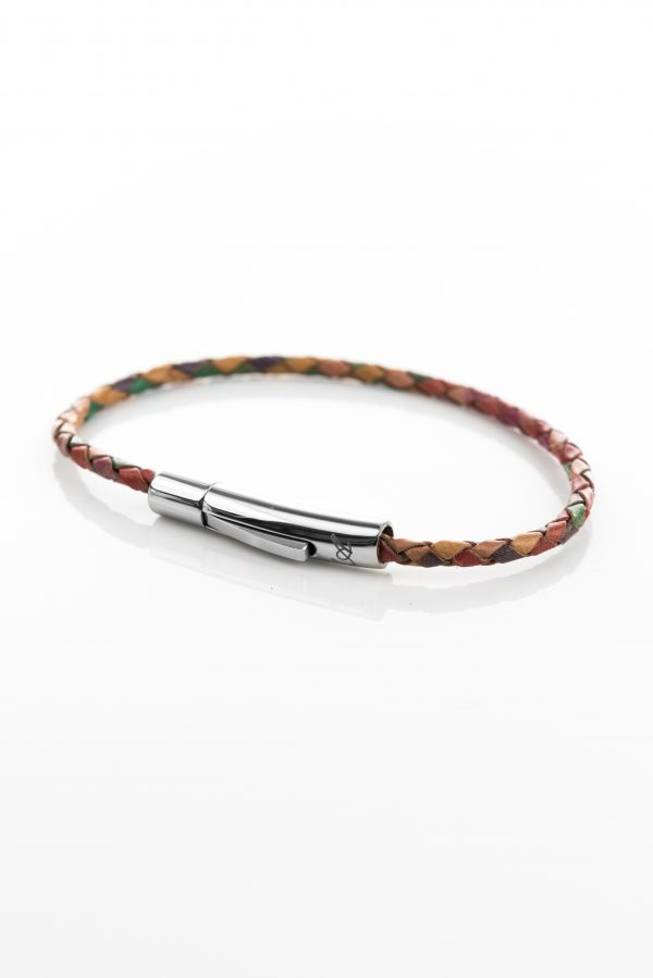 "Vowen multicolor leather bracelet ""Skin""- L'Avvocato"