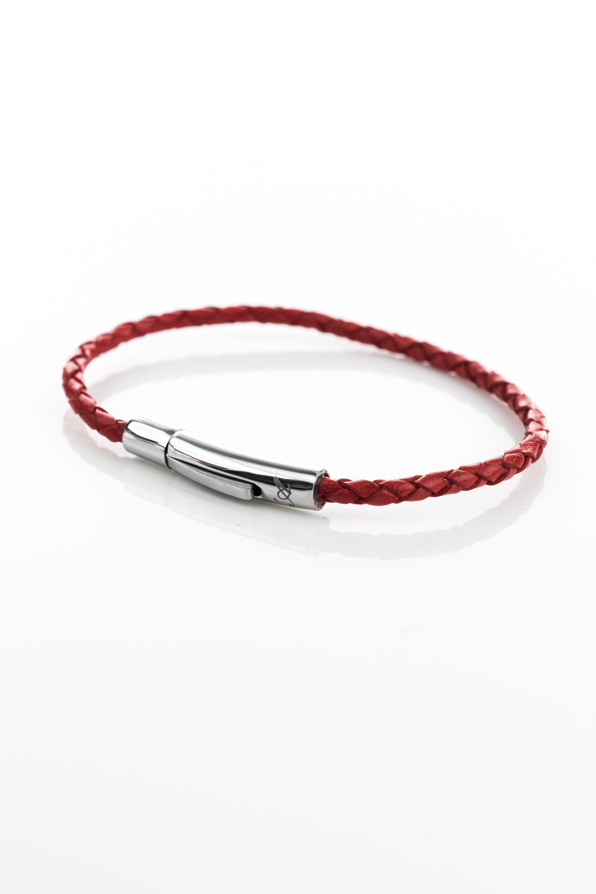 Vowen Red Leather Bracelet Skin L Avvocato