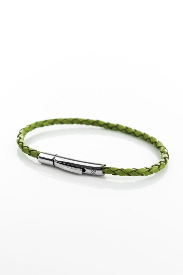 "Vowen green leather bracelet ""Skin""- L'Avvocato"