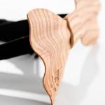 Brando - Papillon in legno- dettaglio spessore profilo